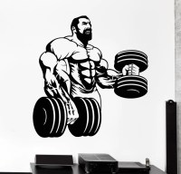 Vinyl Wall Decal Powerlifting Gym Beautiful Body Muscle ...
