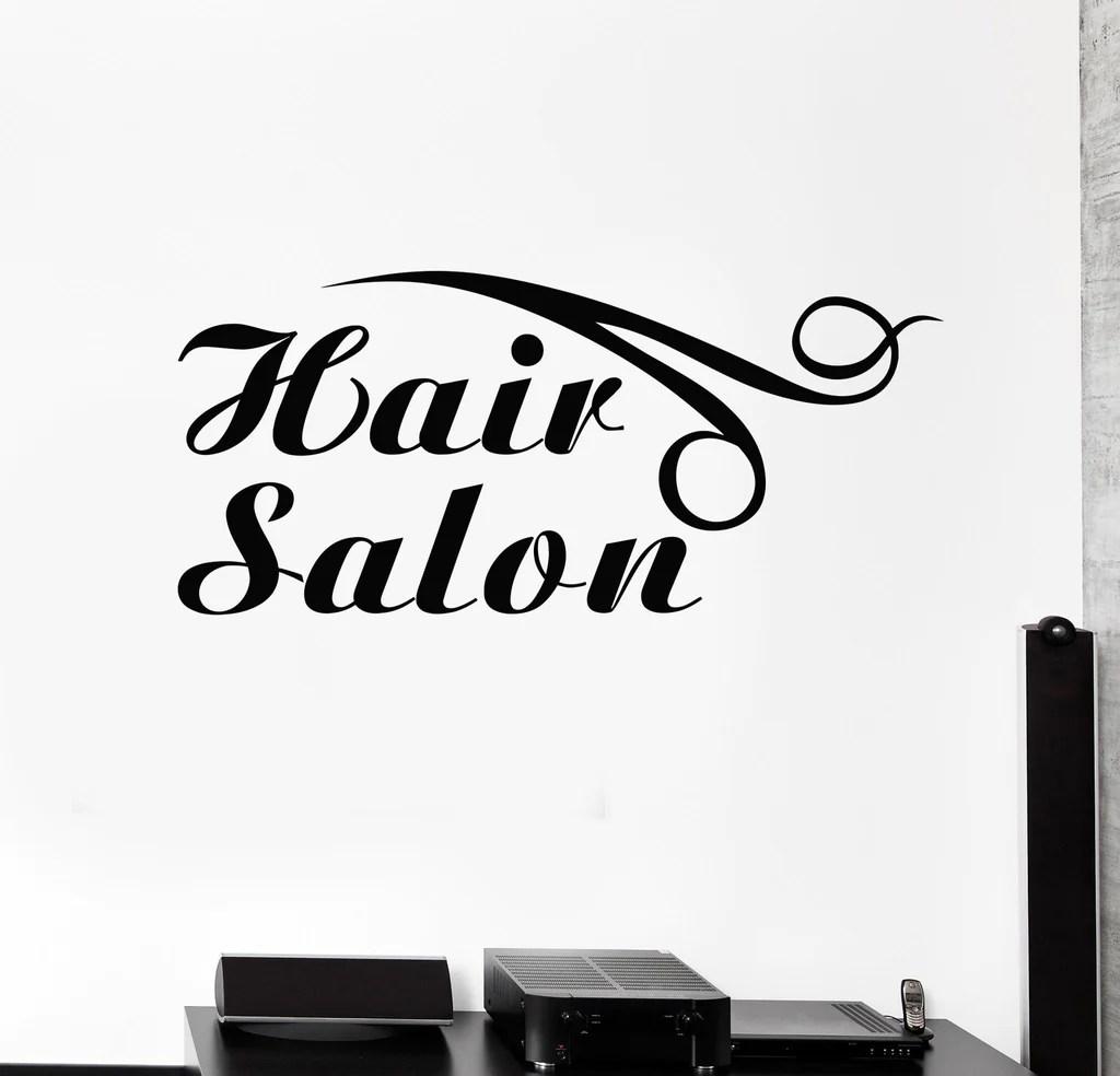 vinyl wall decal hair salon logo
