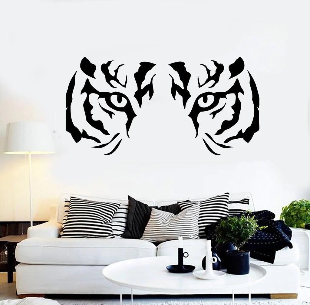 Wall Stickers Vinyl Decal Animal Tiger Raptor Tribal Eyes Wall Decor
