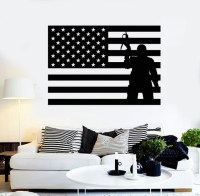 Gas Mask Wall Stickers War Military Bird Cool Decor Vinyl ...