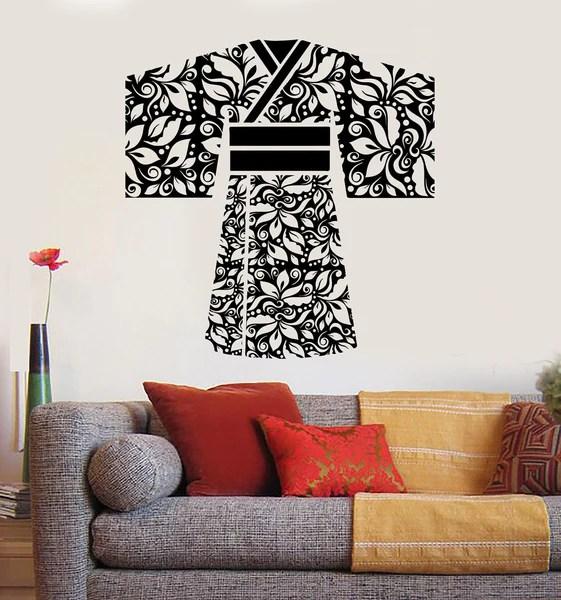 Vinyl Wall Decal Geisha Kimono Japan Asian Japanese