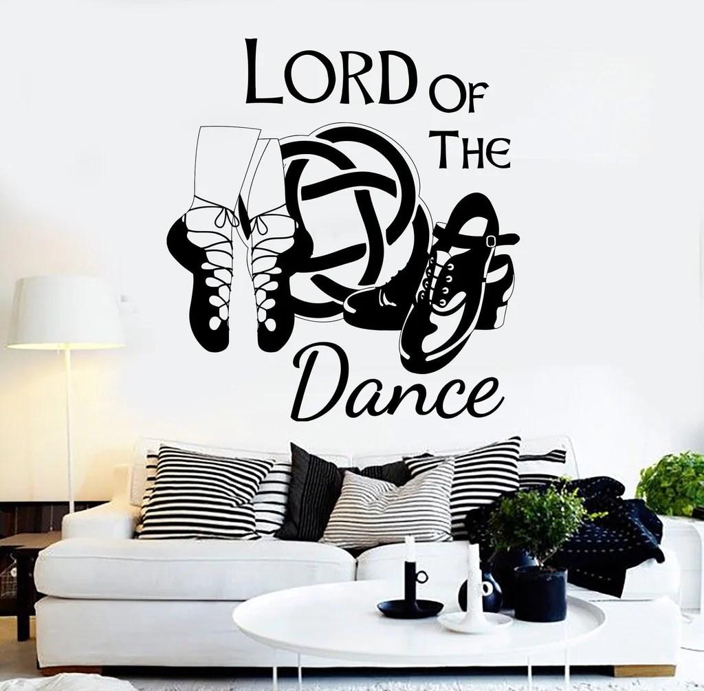 vinyl wall decal irish dance ireland quote celtic stepdance ghillies