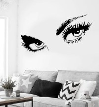 Wall Sticker Sexy Hot Eyes Girl Teen Woman Decal For ...