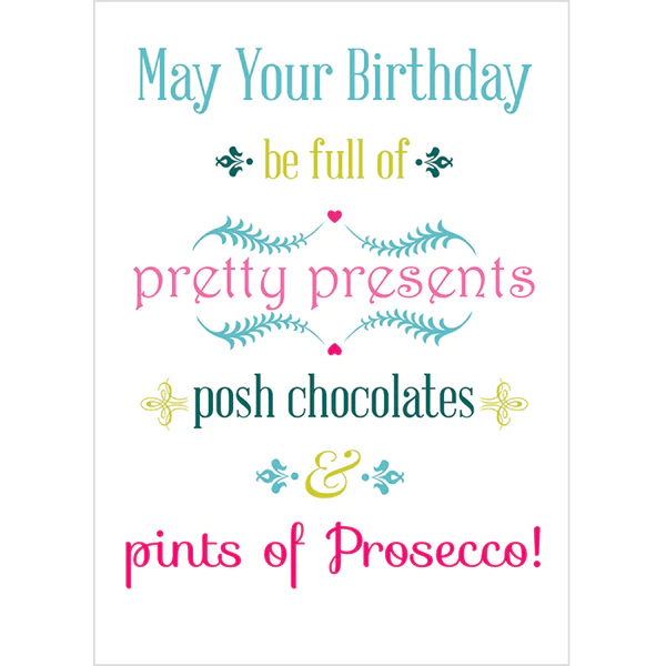 May Your Birthday Be Full Of Pretty Presents Posh