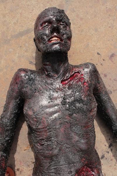 Burn Luttra Cadaver Body Prop  Dapper Cadaver Props