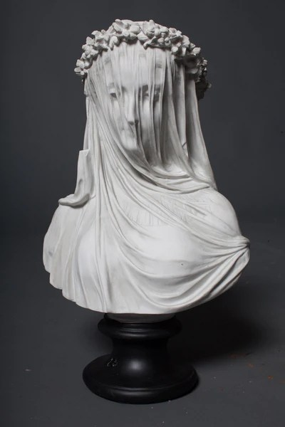 Maiden Bust in Mourning Veil Prop  Dapper Cadaver Props