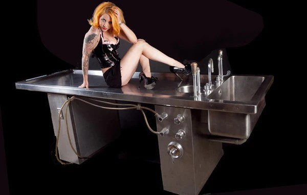 Girl Tshirts Hd Wallpaper Stainless Steel Autopsy Table Rental Dapper Cadaver Props