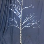White Light Up Halloween Tree Dapper Cadaver Props