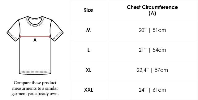Size Chart Crew Neck Supima Cotton T-shirt