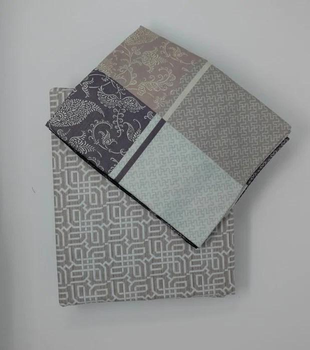 dada bedding jacquard grey floral paisley flat sheet pillow cases set fs8222