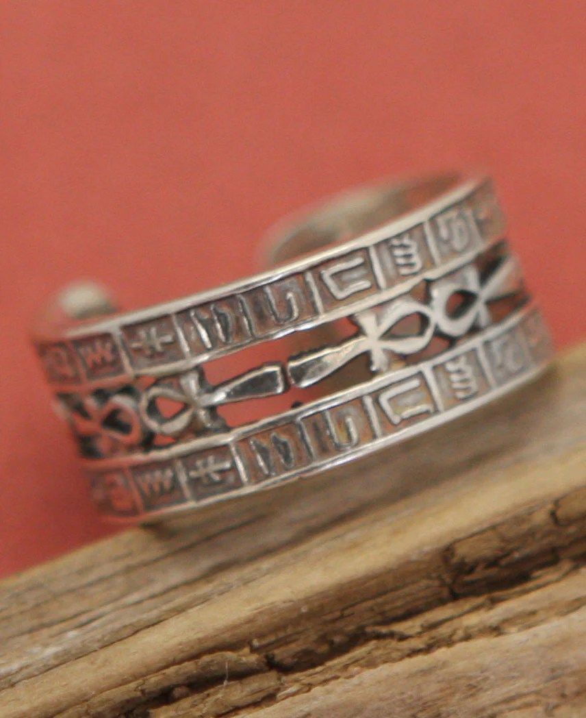 sterling silver detailed egyptian