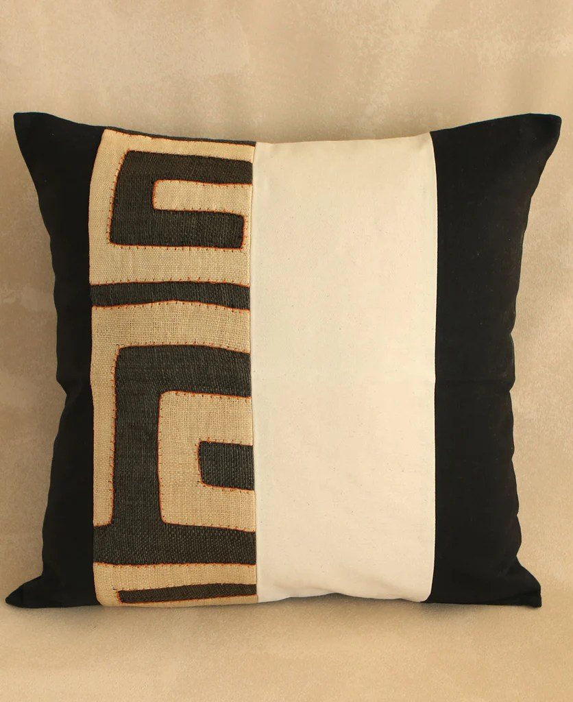 striped kuba cloth pillow cases south africa