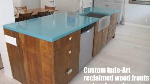 Kitchen Gallery Inde Art Reclaimed Wood Door Drawer