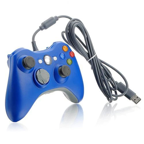 New Wireless Cordless Shock Game Joypad Controller For XBox 360 Blue Althemax