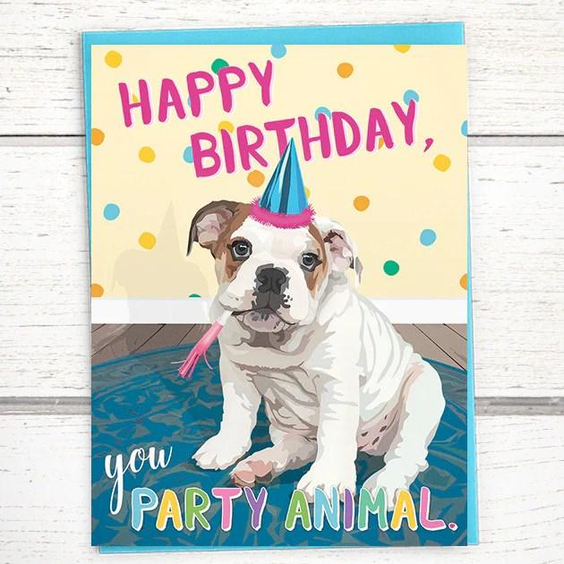 english bulldog happy birthday
