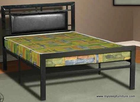 TWIN SINGLE SIZE 141 BLACK COLOR METAL BED FRAME  mysleep