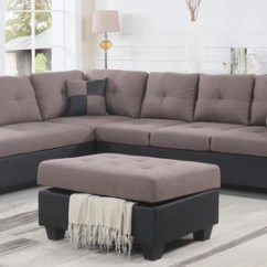 Color Sofa Red Recliner Liya Brown Lhf 3 Pc Fabric Sectional With Storage Ot Mysleep