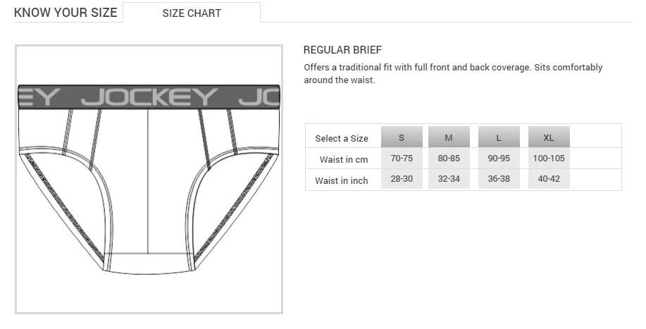 Jockey men   underwear modal brief pack of pcs chart also ebay rh