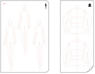 template fashionary templates pdf womens figure flat