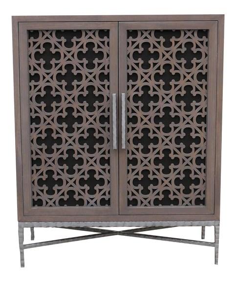 Custom ProjectMedia Cabinet featurning Laser Cut Panel