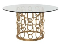 Frederica, Gold Chain Round Dining Table  Mortise & Tenon