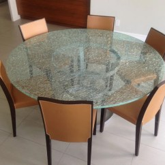 Mahogany Side Tables Living Room Teal And Lime Green Decor Round Crackle Glass Dining Table With Tripod Metal Base ...