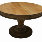 Westport Round Reclaimed Wood Extension Pedestal Table Mortise Tenon