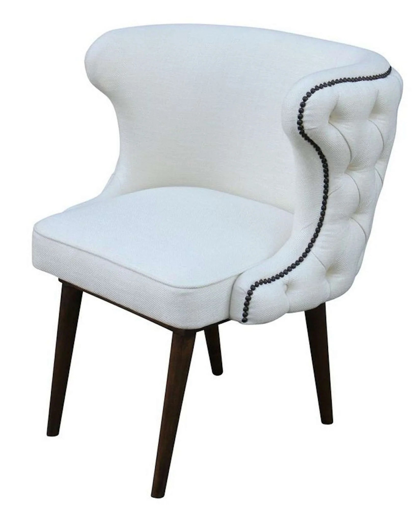 White Barrel Chair Brentwood Chair Upholstered Dining Chair Mortise And Tenon
