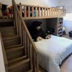 Fun Custom Designed Bunk Bed Built In White Oak Mortise Tenon