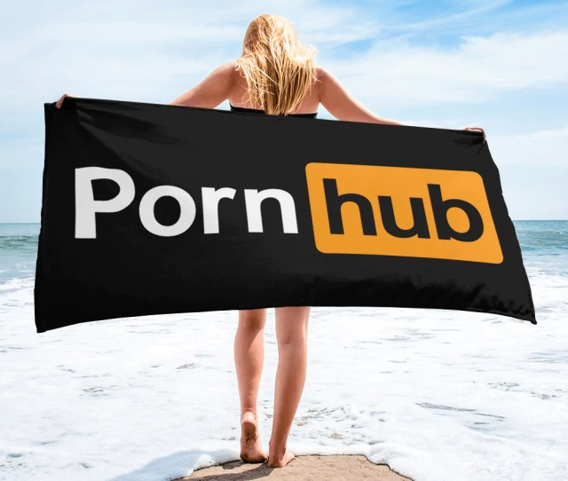 Pornhub Black Beach Towel Pornhub Apparel