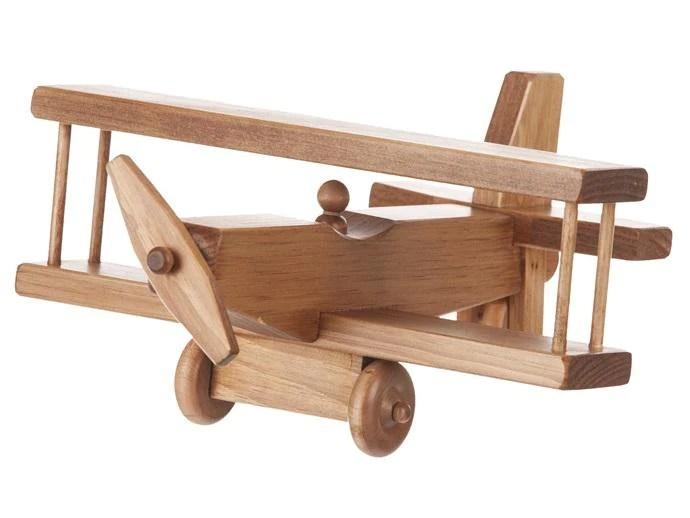 12 Airplane Amish Handmade Biplane Wood Toy At