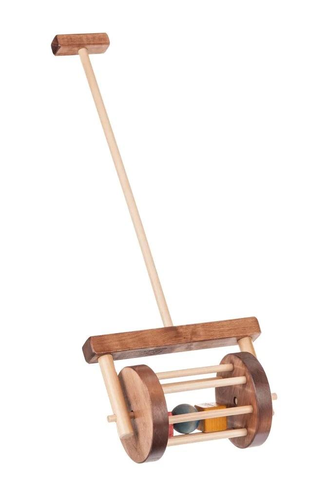 Block Roller Handmade Wood Toddler Walker Toy At