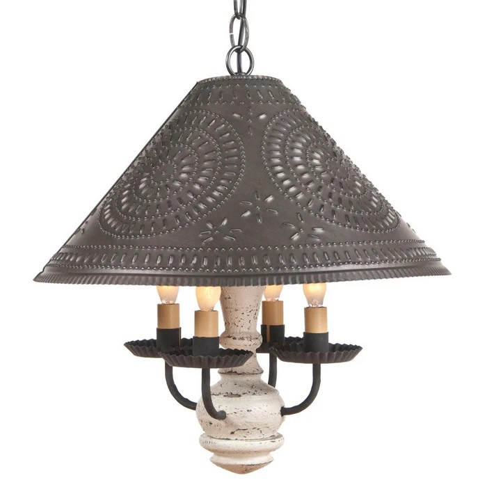 punched metal pendant light