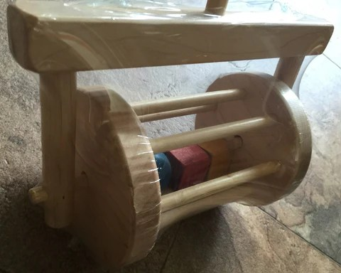 Block Roller Amish Handmade Wood Toddler Walker