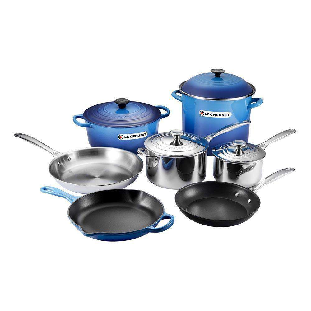 kitchen pan set stainless steel sinks le creuset ultimate cookware smart