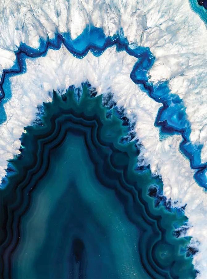 Printed Sea Blue Geode Backdrop  4640  Backdrop Outlet
