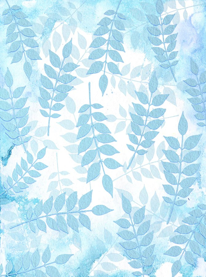 textured pale blue leaves