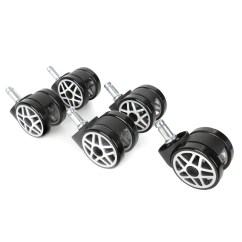 Office Chair Castors Accent With Arms Promech Racing Spare Wheels For Low Profile Alloy Wheel 5 Design Plastic