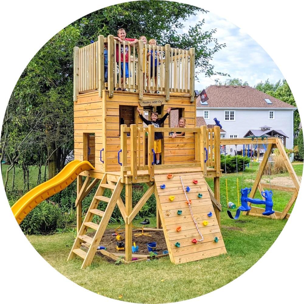 Play Set Amp Playground Plans Diy Backyard Blueprints
