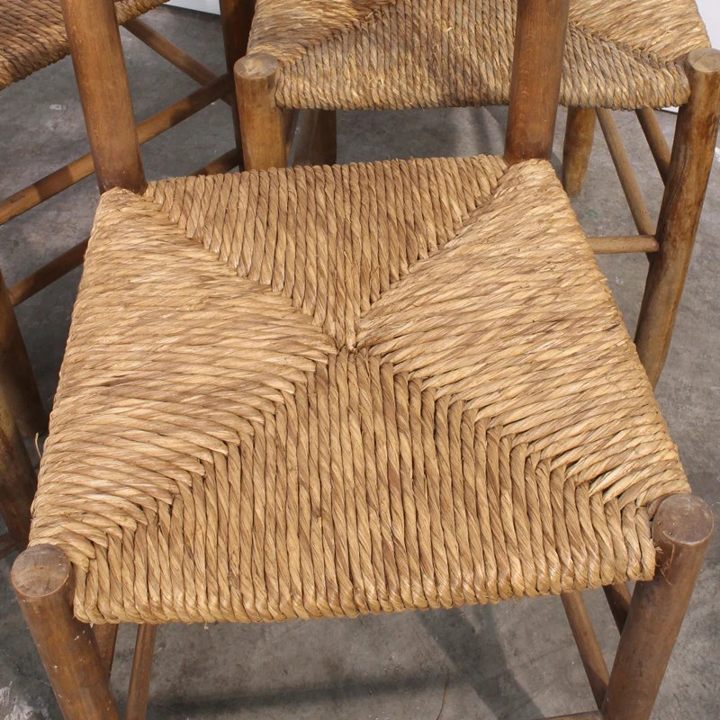 rush seat chairs hanging chair pier one canada set of 4 italian chestnut fatto a mano antiques