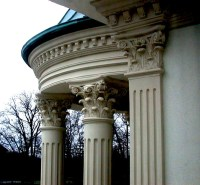 "Ionic Flat Pilaster Capital 12""  Architectural Foam"