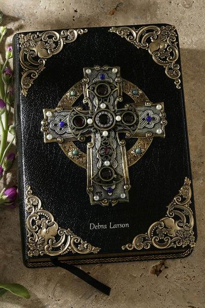 Garnet Celtic Cross Jeweled Bible NIV Or KJV Celebrate Faith