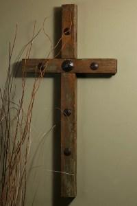 4 ft Rustic Clavo Old Door Cross  Celebrate Faith