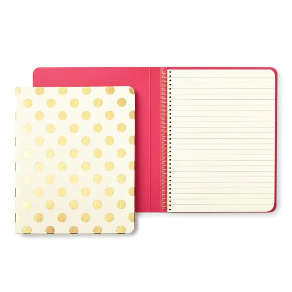 kate spade new york spiral notebook  gold pavilion