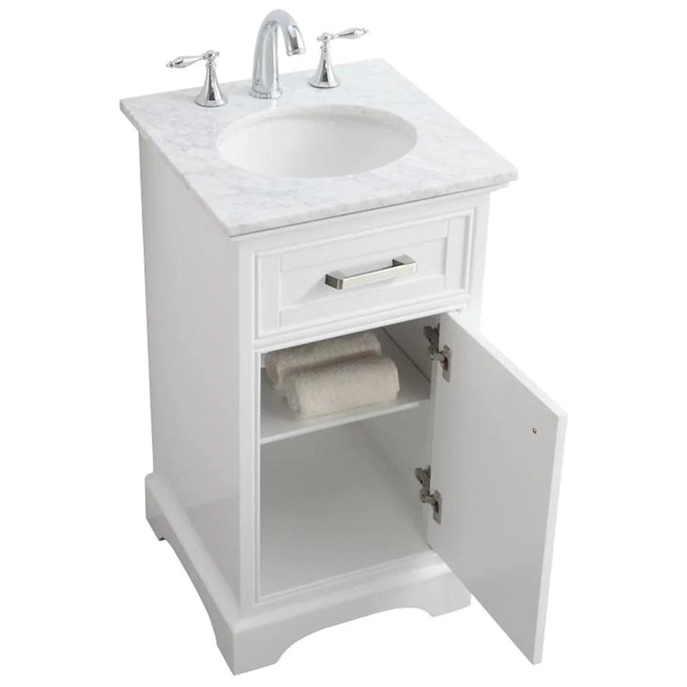 19 inch single bathroom vanity set