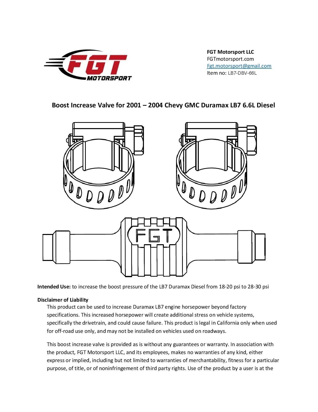 medium resolution of boost increase valve for 01 04 duramax 6 6l lb7 chevy silverado