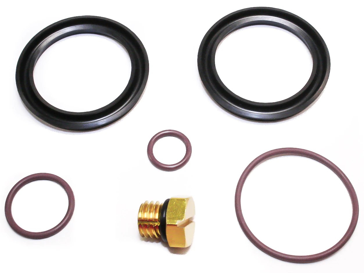 2001 2010 6 6l duramax fuel filter primer rebuild seal kit including bonus billet bleeder  [ 1253 x 940 Pixel ]
