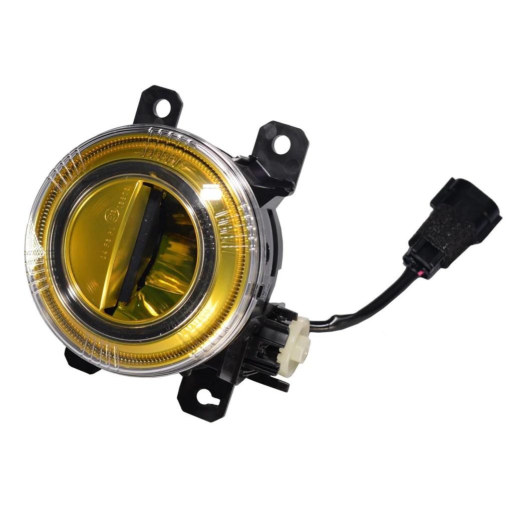 genuine honda modulo jdm yellow led fog light kit honda civic type r dream automotive [ 1024 x 1024 Pixel ]