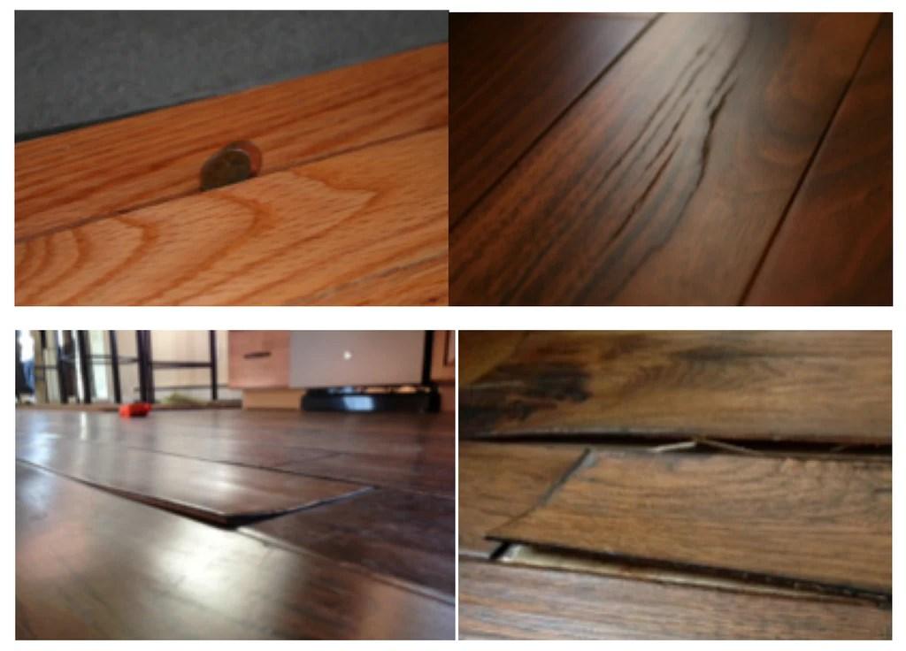 Garbage engineered hardwood flooring and what it looks like
