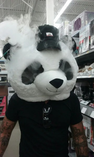 costume contest vaping panda